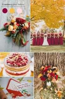 wedding photo - Top 5 Fall Wedding Color Combo Ideas For Autumn Brides 2015