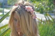 wedding photo - Flower Crown, Rustic Wedding Bridal Crown, Wedding Headpiece, Flower Halo, Bohemian Hair, Woodland Hair