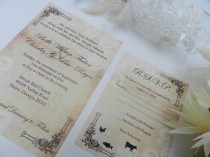wedding photo - Lace Vintage Rustic Wedding Invitations - Sample Set