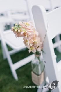 wedding photo - Rustic Driftwood  Hemp Twine Centerpieces, Church or Pew Vases or Aisle Decor Set of 6,  Fall Wedding