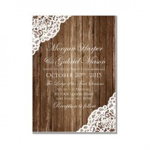 wedding photo - Rustic Wedding Invitation - Country Chic - Rustic Wood Lace - Lace Wedding - DIY Wedding Invitations - INSTANT DOWNLOAD -  Microsoft Word