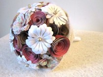 wedding photo - Floral Romance: A Rustic Fairytale Paper Mixed Wildflower Bouquet Ready to Ship