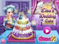 wedding photo - Frozen Elsa's Amazing Wedding Cake