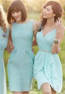 wedding photo - Short Bridesmaid Dresses From Storybridal
