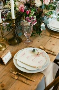 wedding photo - Place Setting Details