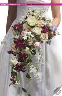 wedding photo - Cascading Bouquets