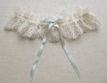 wedding photo - Odette lace garter with silk and swarovski