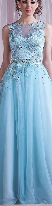 wedding photo - Long Turquoise - Aqua - Blue Dresses
