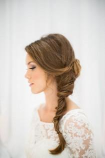 wedding photo - Bride In Side Braid