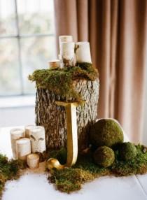 wedding photo - 32 Naturally Charming Woodland Wedding Centerpieces