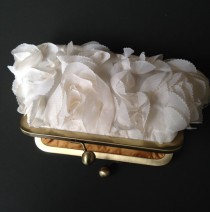 wedding photo - Fairy Tale Wedding - Rosette Ivory Clutch