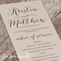 printable wedding program eternity