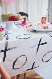 wedding photo - The DIY Tablecloth