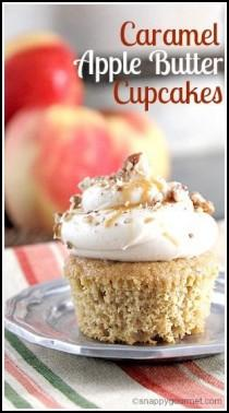 wedding photo - Caramel Apple Butter Cupcakes
