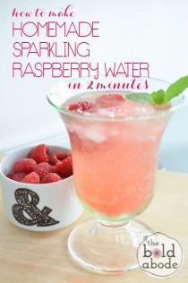 wedding photo - Homemade Sparkling Raspberry Water
