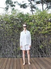 288176925bfa Textured white cotton shorts pj set. S