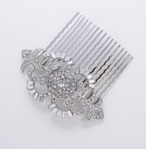 wedding photo - Art Deco Hair Comb Crystal Wedding Comb for Bride Hair Accessories Gatsby Old Hollywood Hair Combs Wedding Jewelry Art Deco Bridal Accessory