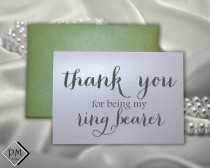 wedding photo - Ring bearer wedding card gift for ring bearers thank you for being my ring bearer for weddings note card greeting cards with color envelopes