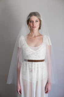 wedding photo - tulle juliet cap veil #1007