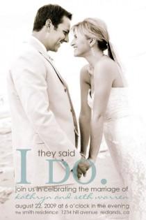 wedding photo - wedding announcement - i do.