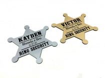 wedding photo - Ring Security,Ring Bearer Security Badge,Ring Bear Gift,Personalized Ring Bearer Badge,Star Shape