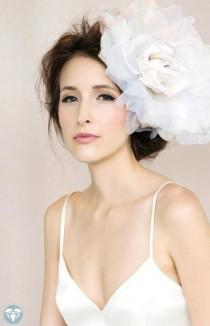 wedding photo - Wedding Headpiece -- Bridal Flower Hairpiece, Wedding Flower for Hair