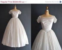 wedding photo - SALE - 30% OFF Kelsey / 50s wedding dress / vintage 1950s wedding dress