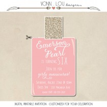wedding photo - nail polish party invitation - modern simple kids teen adult birthday - bachelorette - girls night out - digital printable - cut out - girl