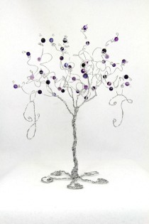 wedding photo - Wedding Cake Topper Tree Personalized Custom Wire Sculpture with Your Initials in Any Colors