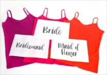 wedding photo - Funny DIY Bleach Shirts For Brides And Bridesmaids