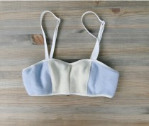 wedding photo - Pure cashmere soft bra - pastel blue custom made cashmere lingerie - washable in cold water