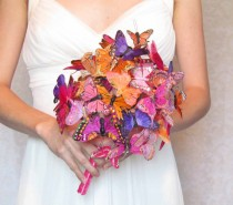 wedding photo - Butterfly Bouquet in Oranges, Pinks, and Purples... Example Only!! DO NOT PURCHASE