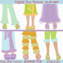 "wedding photo - Digital Clipart ""Retro Digital Clipart"" Pretty PAJAMA Legs SHOES Slippers Retro Digital Clipart Spa Day Retro Colors Feet Clip art 1065ff"