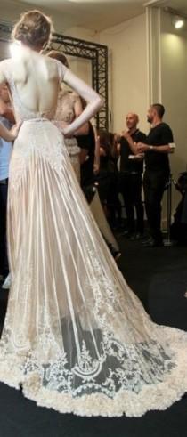 wedding photo - Fashion-week-wedding-dress-antique-lace - Once Wed