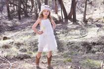 wedding photo - Rustic Flower Girl Dress -White Lace Pillowcase Dress-Rustic Flower Girl-Country Flower Girl Dress-Country Wedding-Vintage-Shabby Chic
