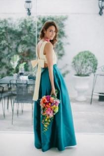 wedding photo - 17 Stunning Crop Top Bridesmaids Outfits To Rock