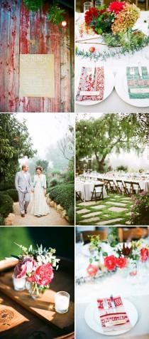 wedding photo - Eclectic Watercolor Wedding - Once Wed