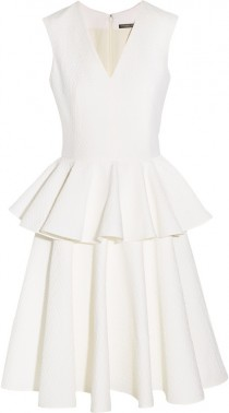wedding photo - Alexander McQueen Cotton-blend cloqu? dress