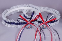 wedding photo - University of Arizona Wildcats Lace Wedding Garter Set