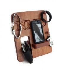wedding photo - Personalized Phone Docking Station - Groomsmen Gift; Men's Birthday, Anniversary Gift