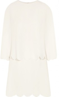 wedding photo - Valentino Layered scalloped silk mini dress