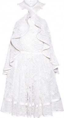 a07d14852a82 Givenchy Halterneck mini dress in white embellished embroidered cotton-tulle