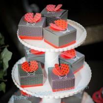 "wedding photo - ""Cute as a Bug"" 3-D Wing Ladybug Favor Box"