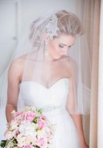 wedding photo - Sheer 2 Tier Wedding Veil