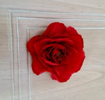 wedding photo - Silk floral supply Wedding Bridal DIY bouquets Red Ranunculus stem with leaves set of 2 craft supplies artificial bokay accessories Weddings