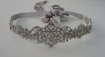 wedding photo - Wedding Dress Gown Crystal Belt Embellishment Brooch Sash