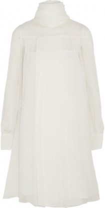 wedding photo - Miu Miu Pleated draped chiffon dress