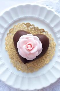 wedding photo - Dark Chocolate Mousse Hearts