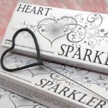 wedding photo - Heart Shaped Wedding Sparklers