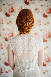 wedding photo - Sophisticated DIY Low Twisted Bridal Hair Updo